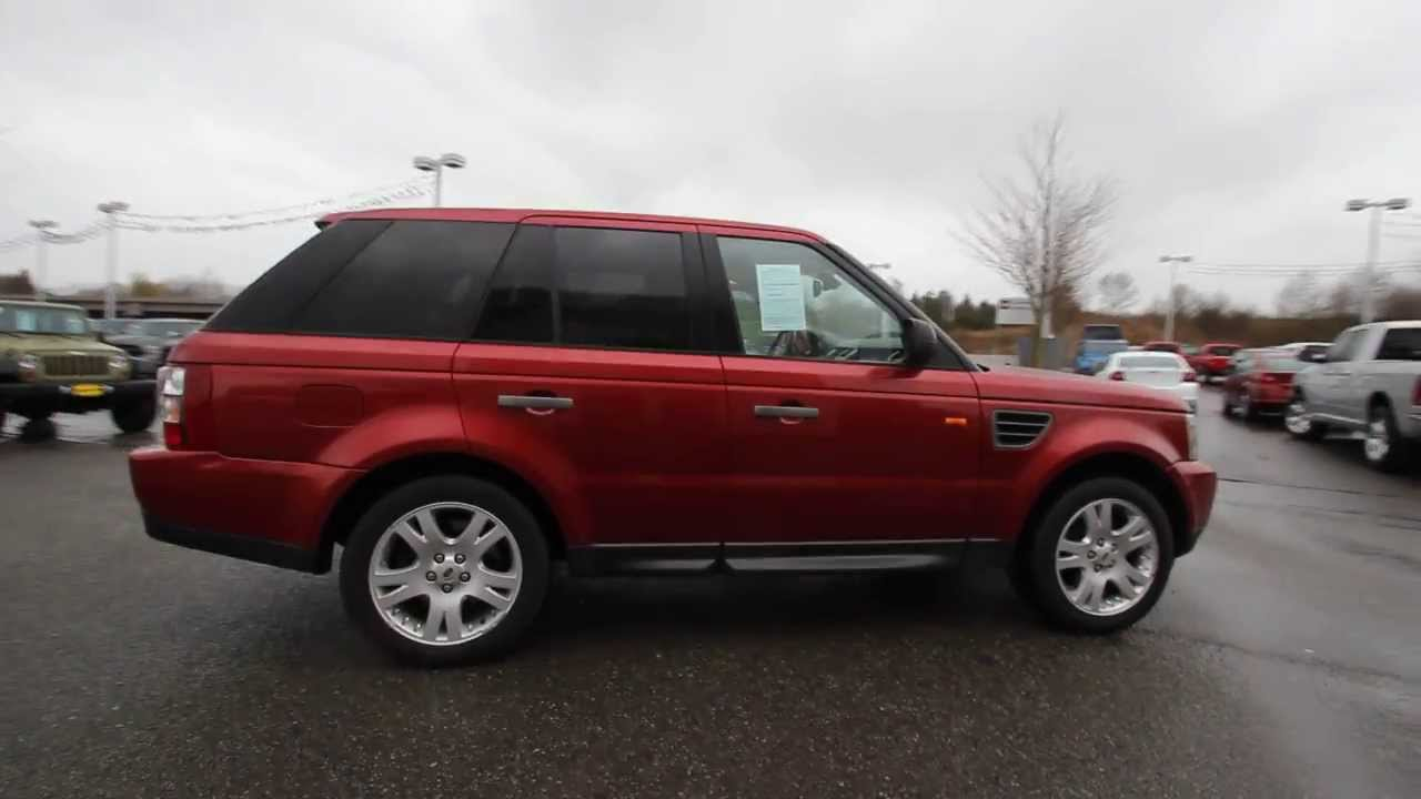 2006 land rover range rover sport hse red 6a908469. Black Bedroom Furniture Sets. Home Design Ideas