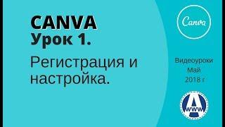Canva видеоуроки как пользоваться Урок 1. Регистрация в Canva com и настройка