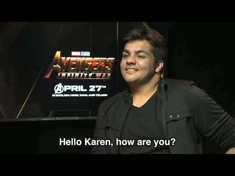 Ashish Chanchlani Interviewing Karen Gillan / Nebula | Ashish in Singapore | Avenger's Infinity war