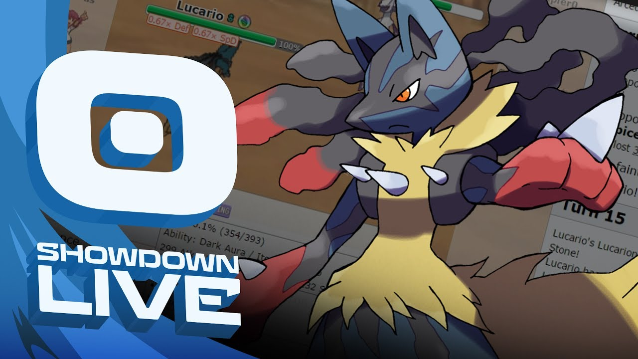 mega lucario punches through
