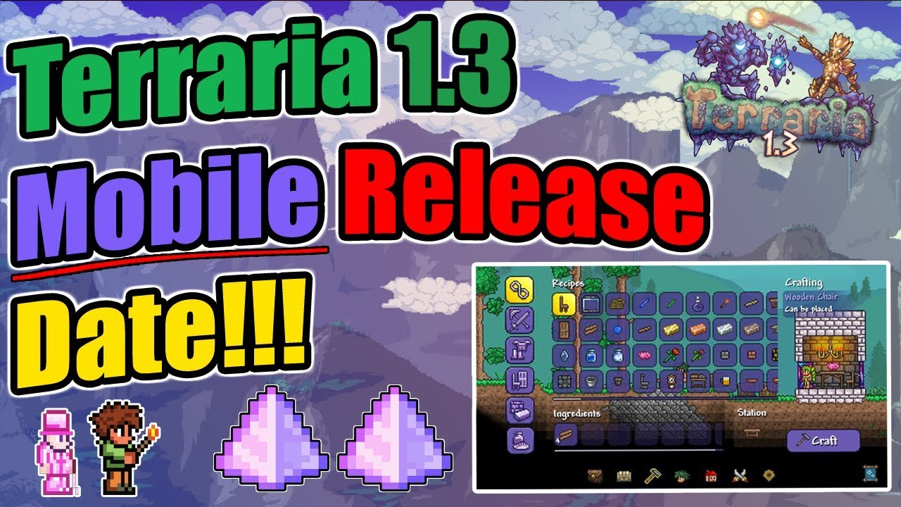 MONTHS LATER AND STILL NO TERRARIA 1 3 UPDATE FOR MOBILE! (2019 RUMORED TO  BE RELEASED)
