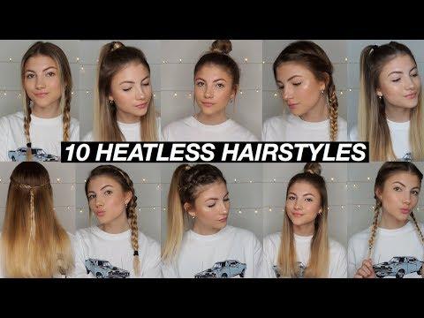 10 EASY BACK TO SCHOOL HEATLESS HAIRSTYLES!