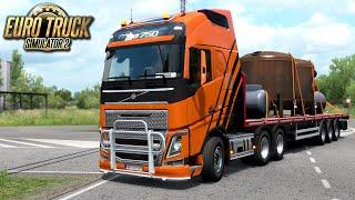 Pierwsza trasa po Rumunii - Euro Truck Simulator 2 | (#52)