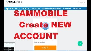 How to register Sammobile account & flash file download New 2017
