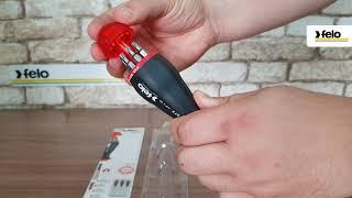 Обзор отвертки с магнитным держателем под биты с набором бит 8шт Felo 37320805