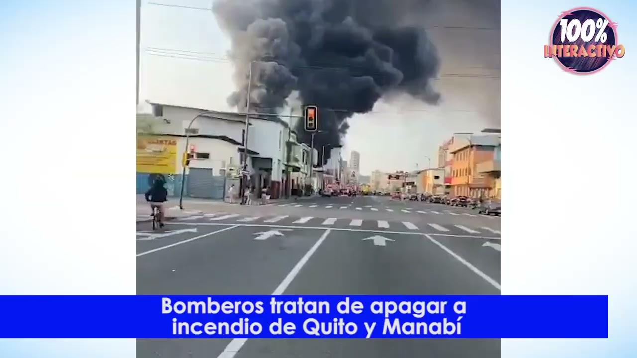 200 bomberos de Guayaquil controlan incendio