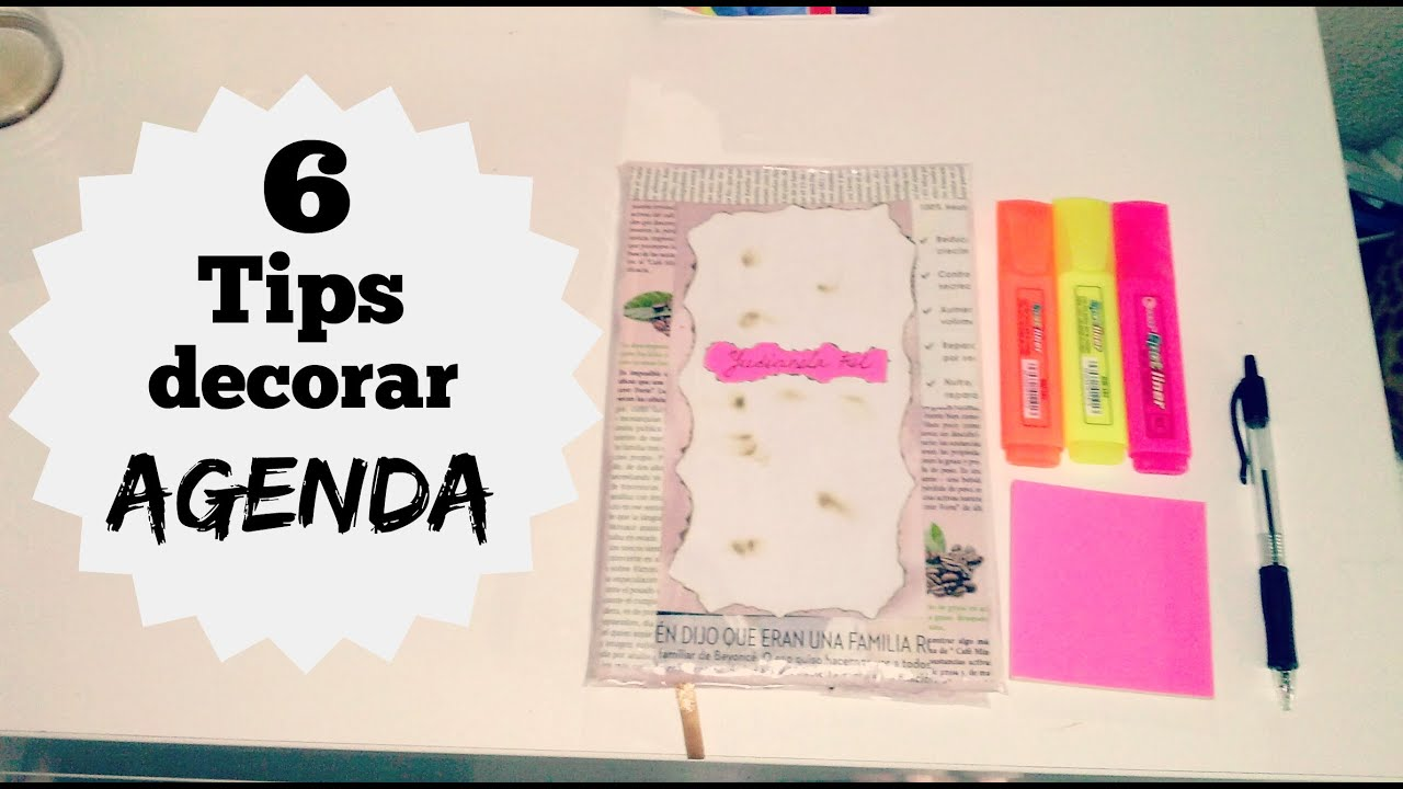 5 tips decora tu agenda cuardernos libros y mas youtube - Como decorar una agenda ...