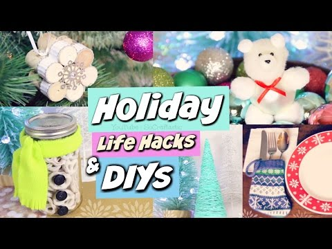 DIY HOLIDAY GIFT IDEAS, Life Hacks, & Winter Room Decor | SoCraftastic