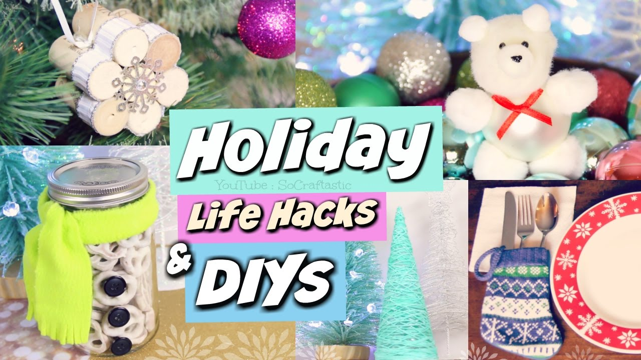 Christmas Life Hacks.Diy Holiday Gift Ideas Life Hacks Winter Room Decor Socraftastic