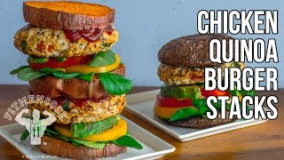 How To Make Chicken Quinoa Burgers For Fat Loss Or Hardgainer / Hamburguesa De Pollo Y Quinua