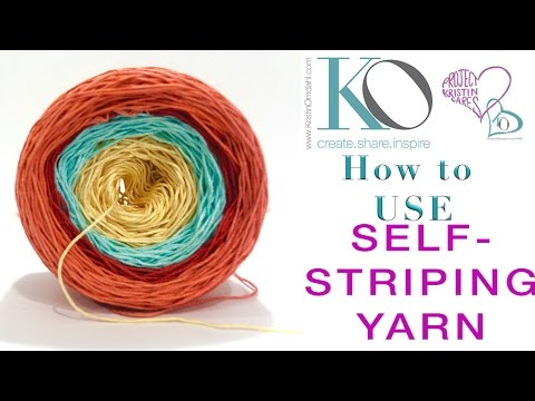 How to use Self-Striping Yarn and Mix with other Yarns Knitting ...
