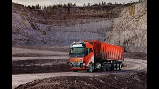 Gambar cover Six autonomous Volvo's FH in Norwegian mining