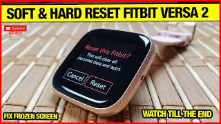 SOFT & HARD RESET FITBIT VERSA 2