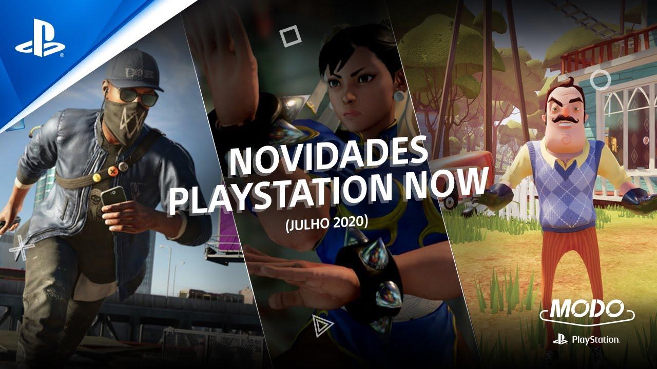 MODO PlayStation (SNACK #11) | NOVIDADES PLAYSTATION NOW (JULHO 2020)