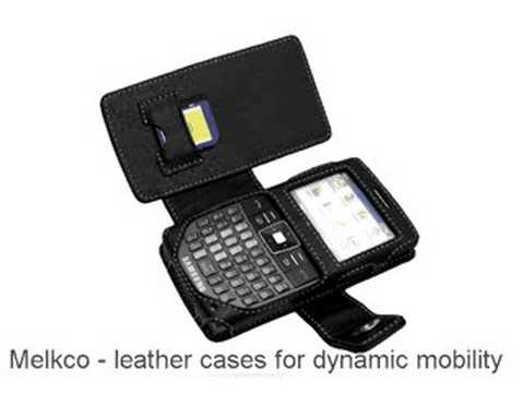 Melkco Tasche Leder Etui cuir ~SGH-I325 Book Type (Black)