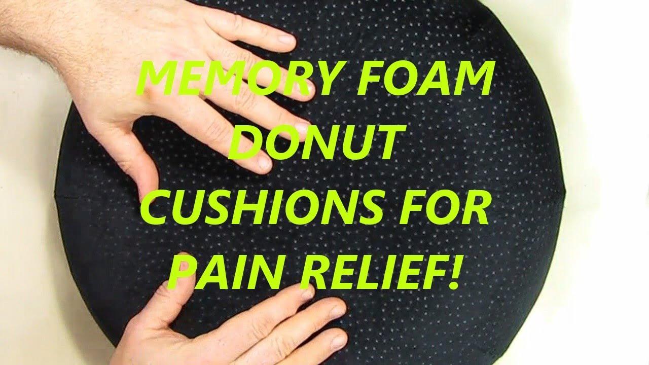 Aeris Memory Foam Donut Seat Cushion Queen Size Black