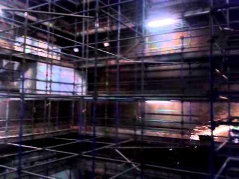 Scaffold inside powerhouse boiler - YouTube