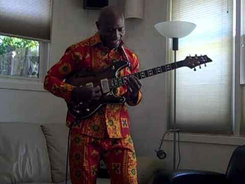 Soji Odukogbe playing African Highlife rhythm