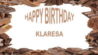 Klaresa   Birthday Postcards & Postales