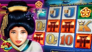 GEISHA LIVE BONUSES & HITS - 5c Aristocrat Video Slots