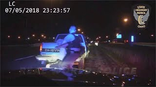 Near Disaster: Ohio Trooper vs. Wrong Way Driver