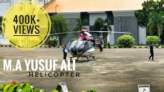 M.A. Yusuf Ali Family departing On Helicopter(HD)-Adlux
