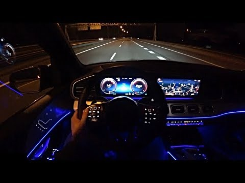 2020 Mercedes GLE - REVIEW GLE 450 AMG POV TEST DRIVE at Night