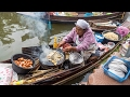 Thai Food at Tha Kha Floating Market ตลาดน้ำท่าคา - Don't Miss Aunty's Fried Oyster Omelet!