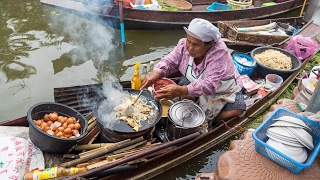 connectYoutube - Thai Food at Tha Kha Floating Market (ตลาดน้ำท่าคา) - Don't Miss Aunty's Fried Oyster Omelet!