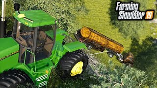 CHEVY TANKER RESCUE MISSION! WINCHING UP A 1950's CHEVY TANKER FROM A CLIFF   FARMING SIMULATOR 2019