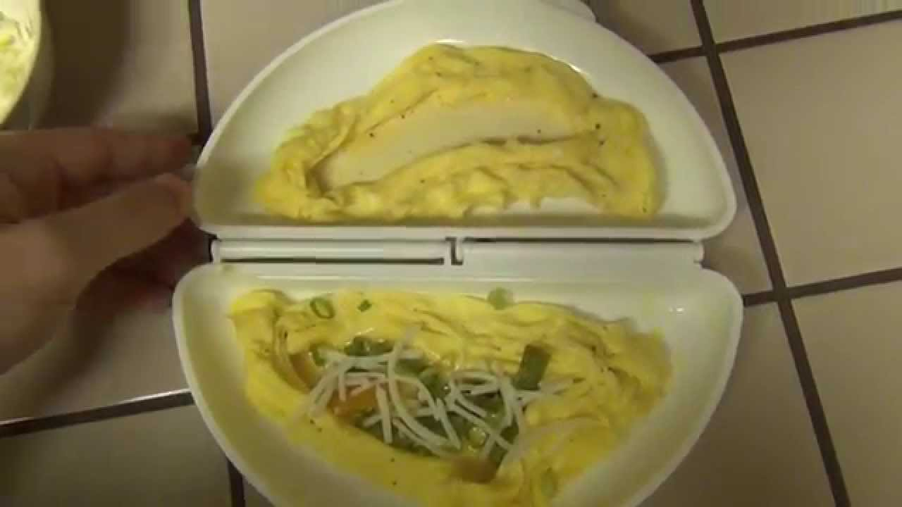 Emson Omelet Wave Microwave Omelet Cooker Review Youtube