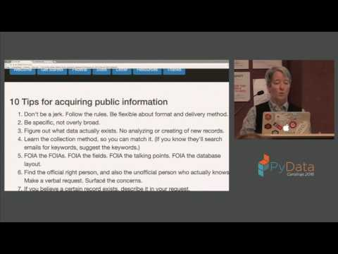 Hope E Paasch | How to get public data from public servants
