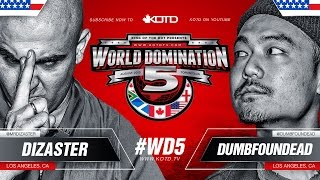 KOTD - Rap Battle - Dizaster vs Dumbfoundead | #WD5