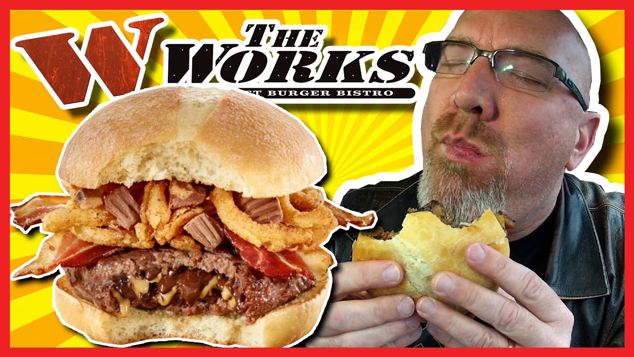 Reese PBC BURGER! - Peanut Butter Cups in the Burger from The Works | KBDProductionsTV