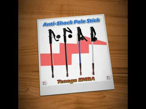 Adjustable Anti-Shock Hiking Walking Pole Stick.