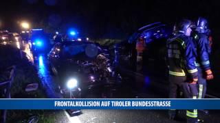 Frontalkollision auf Tiroler Bundesstraße