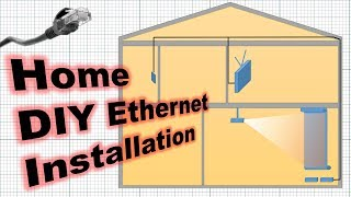 Installing Ethernet at Home 2 Floors, 0 Problems
