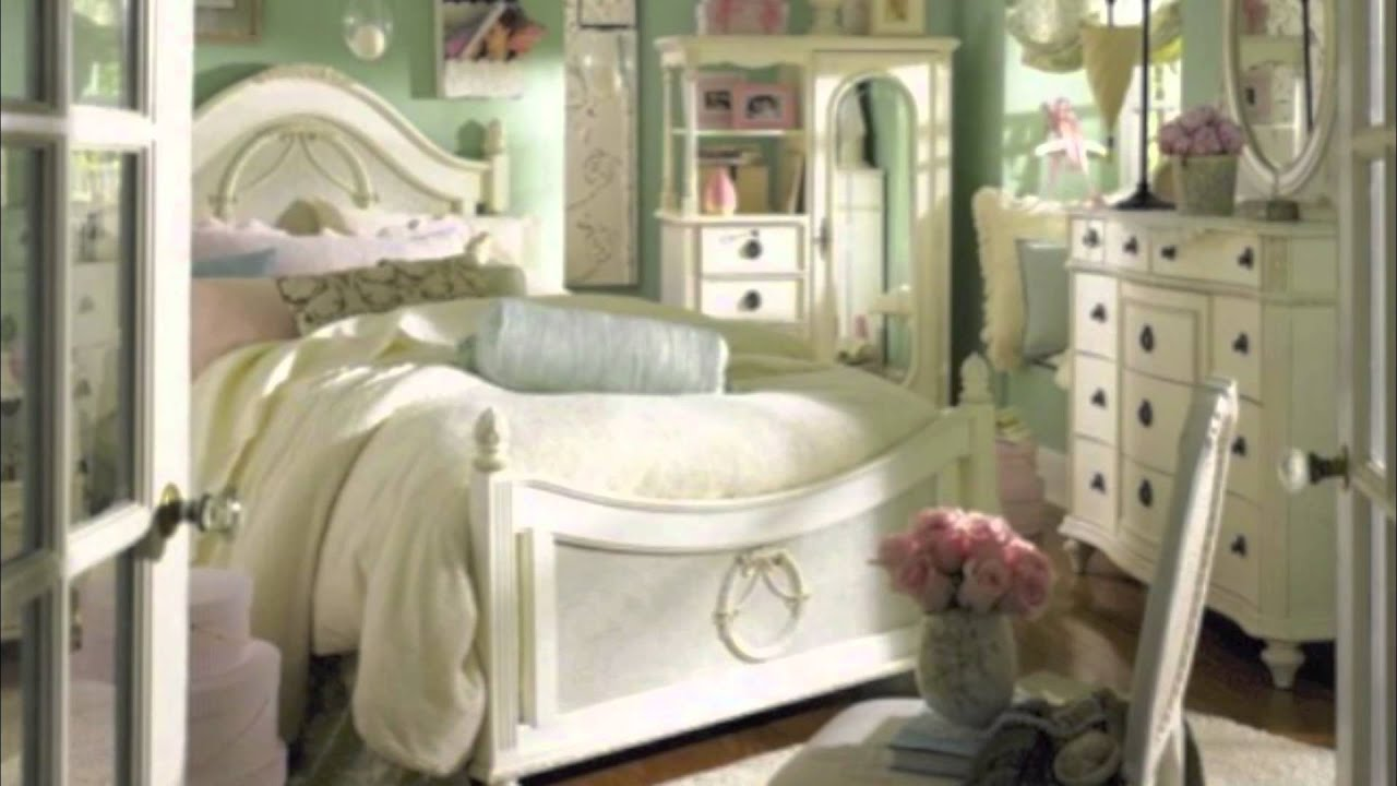 Shabby Chic Home Decorating Ideas Part - 43: Shabby Chic Bedrooms - YouTube