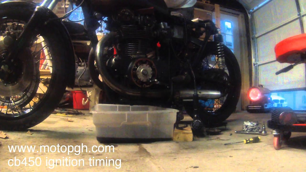 How to set CB450 ignition timing - 68-74 cb450 and 75-76 cb500t - MOTO PGH