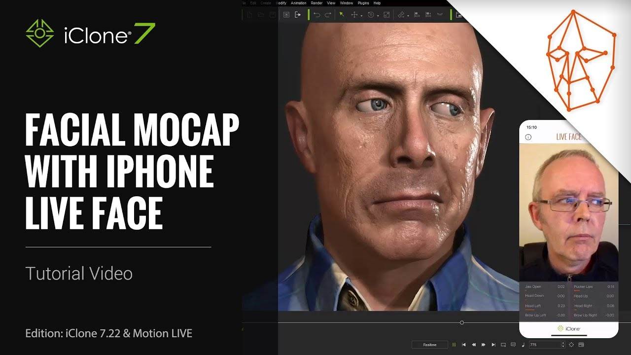 iClone 7 22 Tutorial - Motion LIVE: Facial Mocap with iPhone LIVE FACE