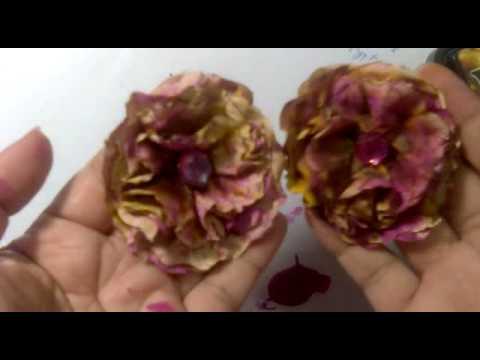 paperbag flowers tutorial