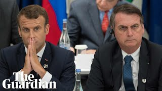 Macron and Bolsonaro's war of words over Amazon fires, aid and their wives