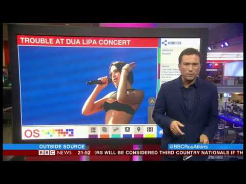 Trouble A Dua Lipa Concert (China) - BBC News - 13th September 2018