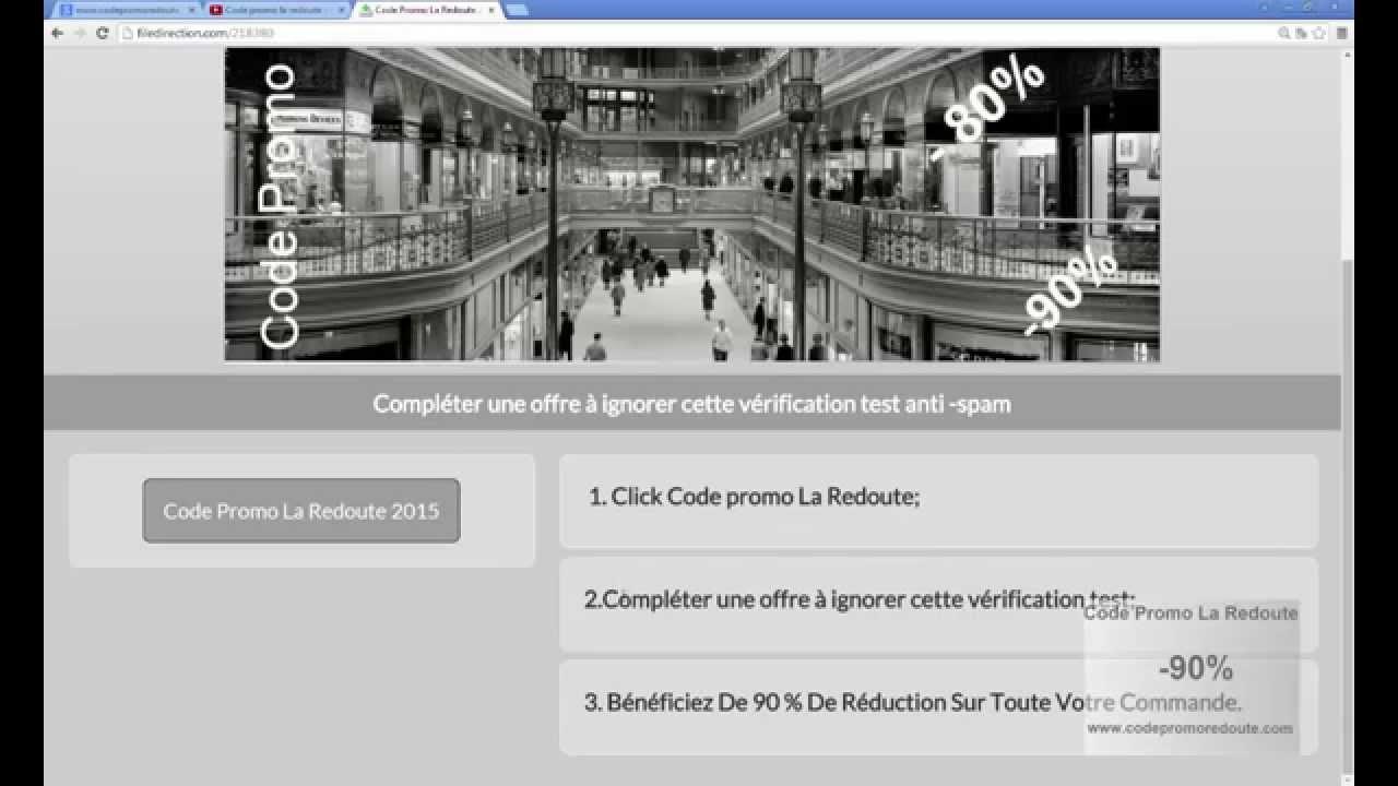 Codes promo la redoute la redoute reduction 2015 youtube - Code reduction la redoute 50 ...
