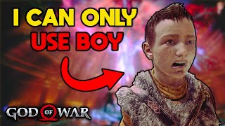 I tried beating God of War With Only BOY - Part 1 of 2