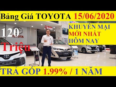 ✅Bảng Giá Xe Toyota Tháng 6 Năm 2020 Cập Nhật Mới Nhất Khuyến Mại Trả Góp 1.99% Từ 120 Triệu Mua Xe