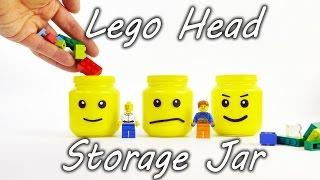 Lego Head Storage Jar