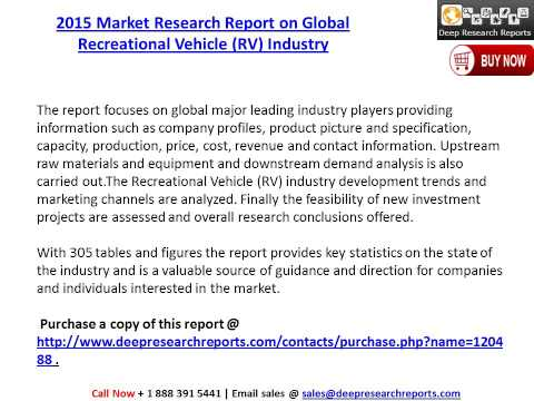 Global Recreational Vehicle (RV) Industry Research Study and 2020 Future Market