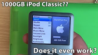 Building a 1000GB iPod classic! Can it handle the storage?