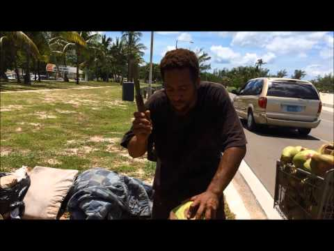 Most Kindest & Poetic Coconut Seller EVER - Nassau Bahamas